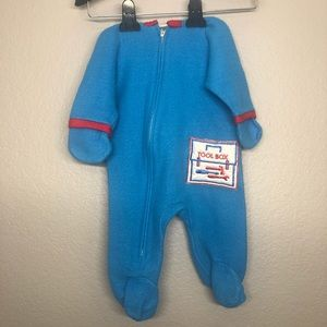 Vintage Carter's Boys Hooded One Piece